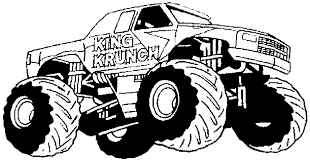 coloring pages of monster trucks coloring page