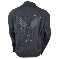reflective bike jacket women u0027s reflective black wings motorcycle jacket jafrum