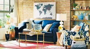 World Map Canvas by Trent Austin Design World Map Navy Framed Graphic Art Print On