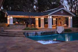 pool house plans with fireplace arts