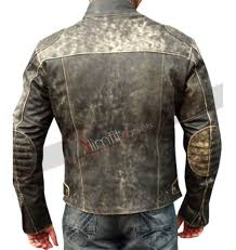 men s moto jacket antique black distressed retro biker jacket