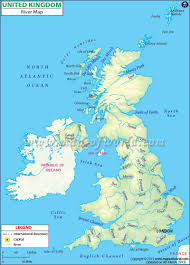 Map Of Ireland And England Uk River Map Rivers In Uk Map