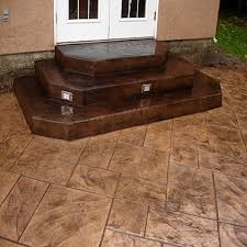 Simple Covered Patio Designs by Stamped Concrete Patio Photo Courtesy Of The London Landscaping