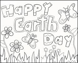 happy earth day greeting cards coloring picture for kids earth