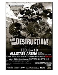 monster truck show discount code monster jam is coming back to allstate arena chimonsterjam
