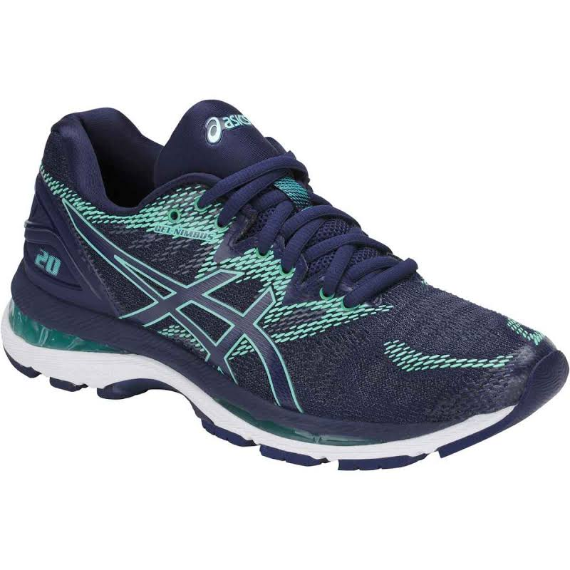 ASICS GEL-Nimbus 20 Running Shoes Blue- Womens