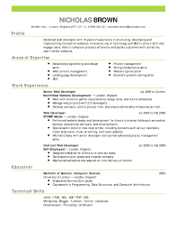 Blank Resume Examples Resume Template Example Basic Sample Format Samples Inside