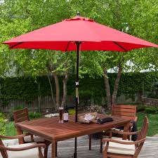 Patio Umbrella Side Table by Coral Coast Key Largo 9 Ft Spun Poly Wood Market Umbrella Hayneedle