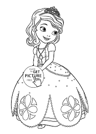 sofia the first coloring pages for kids printable free coloing