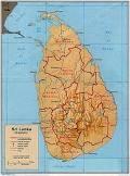 Sri Lanka (Shaded Relief)