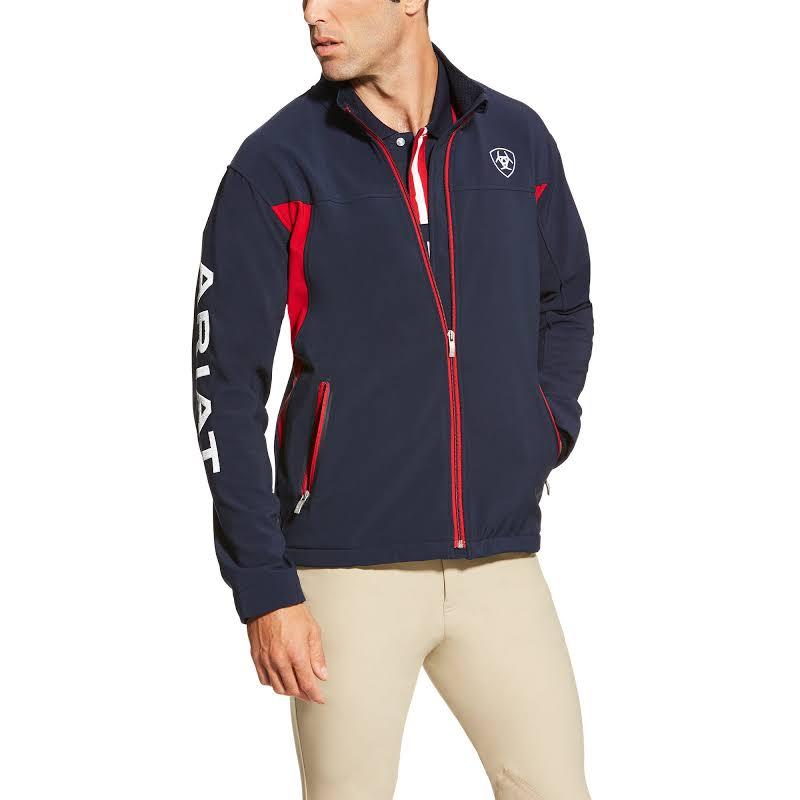 Ariat New Team Navy & Red Full-Zip Softshell Jacket 10019280