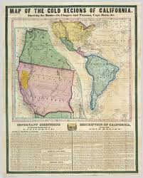 Mexico Map 1800 by Gold Rush Map Guided Prospectors Headed To California