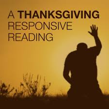 thanksgiving poems readings a thanksgiving responsive reading script the skit guys