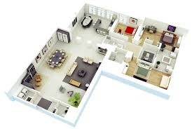 Simple 4 Bedroom House Plans by 25 More 3 Bedroom 3d Floor Plans