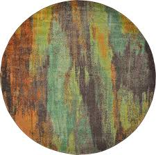 Multi Colored Bathroom Rugs Multi 8 U0027 X 8 U0027 Barcelona Round Rug Area Rugs Esalerugs