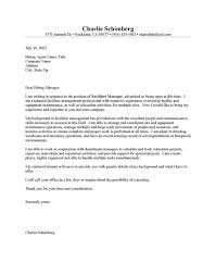 Facilities Manager Cover Letter Resume Cover Letter inside Cover Letter For Manager Position