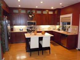 Elegant Kitchen Cabinets Kitchen Brown Kitchen Cabinets Electric Stove Pendant Light