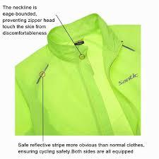 fluorescent bike jacket men santic raincoat windproof sun protection fluorescent green