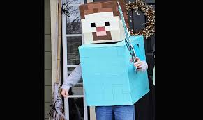 Halloween Minecraft Costume Minecraft Steve Halloween Costume Inhabitots Green Halloween Contest