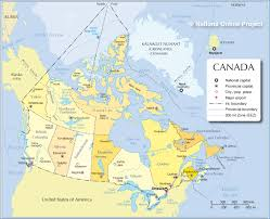 Map Of Cities In Usa by Administrative Map Of Canada Nations Online Project