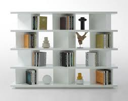 Modern Contemporary Bookshelves by Enitial Lab Mateo Open Back Bookcase White Modern Bookcases