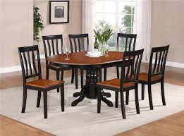 7 pc oval dinette kitchen dining set table w 6 wood seat chairs 7 pc oval dinette kitchen dining set table w 6 wood seat chairs in black cherry