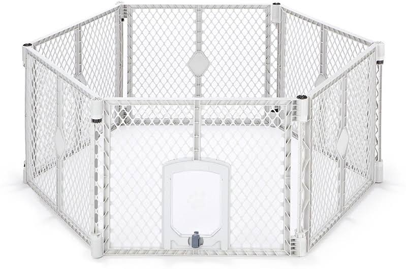 18.5-square-foot Petyard Passage 6-panel Pet Enclosure, Cream 8657