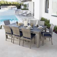 rst brands cannes 9 piece dining set with cushions patio