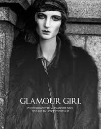 Glamour Girl – Isabelle N evokes the 1920′s style of Nancy Cunard and other figures in Alexander Dahl\u0026#39;s hauntingly beautiful images. - isabelle