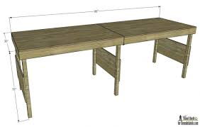 Plans For Building A Wooden Workbench by Remodelaholic Diy Portable Workbench Or Folding Table