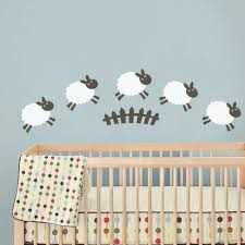 Baby Room Wall Murals by Aliexpress Com Buy C209 Sheep Wall Decal Baby Room Wall Sticker
