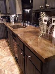 Flooring For Kitchen by Best 25 Stained Concrete Countertops Ideas On Pinterest Stained
