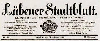 Erinnerungen an das Lübener Stadtblatt von Dr. Erwin Anders - 1905.2.25