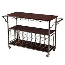Wine Rack Kitchen Island by Wood Top Kitchen Island Wine Rack Cart With Storage Shelf