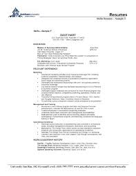 Sample Resume Qualifications List by Sample Resume Related Skills Augustais