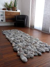 Pebble Area Rug Felt Stone Rug Exclusive Nature Living Environment By Flussdesign