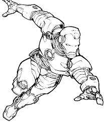 iron man superhero coloring pages for super heroes