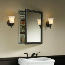 Mirrored Medicine Cabinet Doors by Furniture Beautiful Brown Medicine Cabinet With Small Mirror And