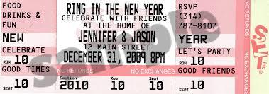 new year u0027s eve ticket invitations