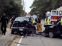 one hurt after two car crash in falmouth