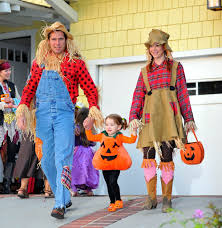 Group Family Halloween Costumes by Satyana Marie Denisof Photos Photos Alyson Hannigan And Family