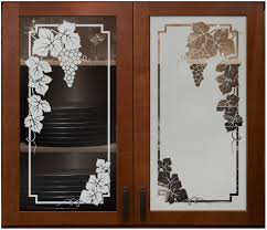Kitchen Cabinet Glass Wooden Gun Cabinet With Etched Glass Best Home Furniture Decoration