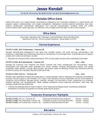 Administrative Secretary Resume Sample by Clerk Resume