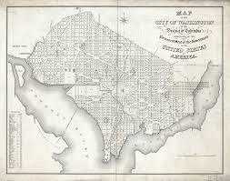 Map Of Washington Cities by Large Scale Detailed Old Map Of The City Of Washington In The