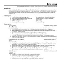 Sample Of Resume Skills And Abilities by Impactful Professional Food U0026 Restaurant Resume Examples