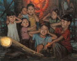 image of children lighting bamboo cannon, borrowed from t2.gstatic.com