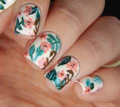 freehand quirky floral nail art nails by latoya
