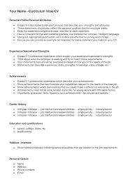 What Is Job Profile In Resume by How To Write Personal Profile In Resume Free Resume Example And