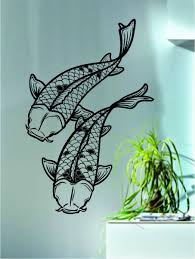 compare prices on koi fish decals online shopping buy low price yingkai koi fish asian japanese animal wall sticker living room vinyl wall decal sticker for home