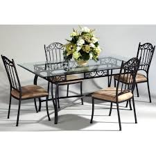Glass Rectangle Dining Table Have To Have It Chintaly Bethel 5 Piece Rectangular Wrought Iron
